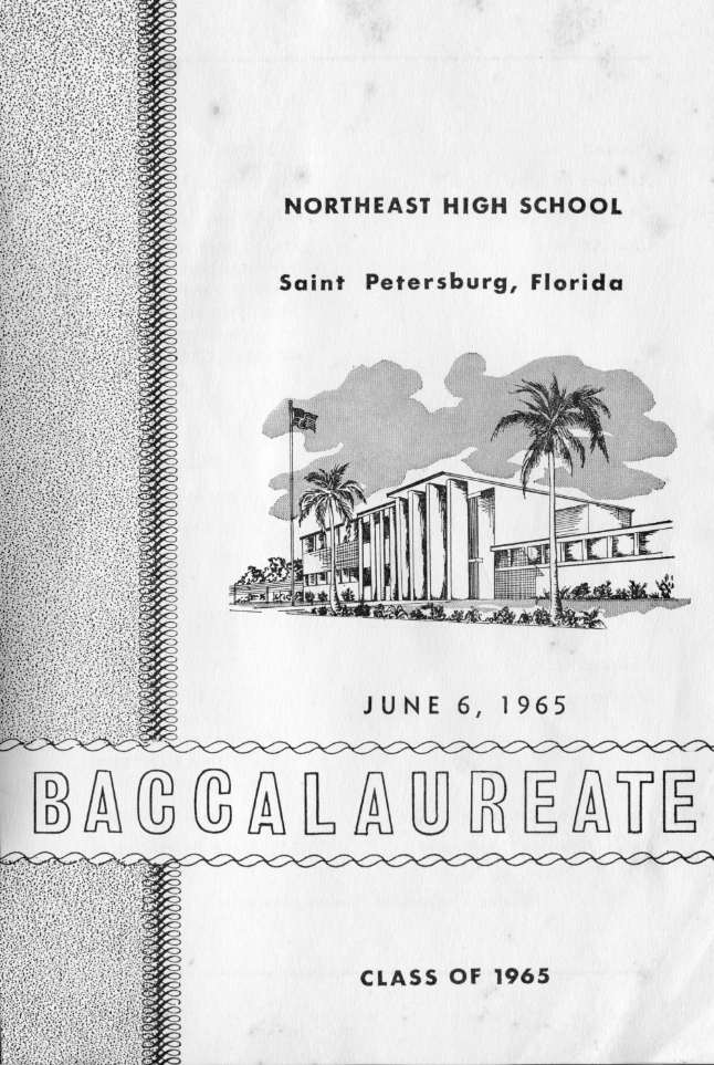 Baccalaureate Announcement front page