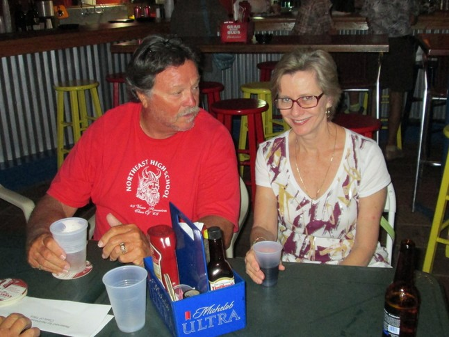 Don Burge and Pam Peters, at the Blue Parrott, St. Pete Beach, July 11, 2012