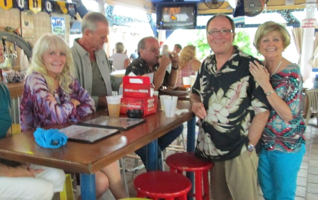 Linda Yinger and Karen and Rick McCollum at the Blue Parrott, St. Pete Beach, July 11, 2012